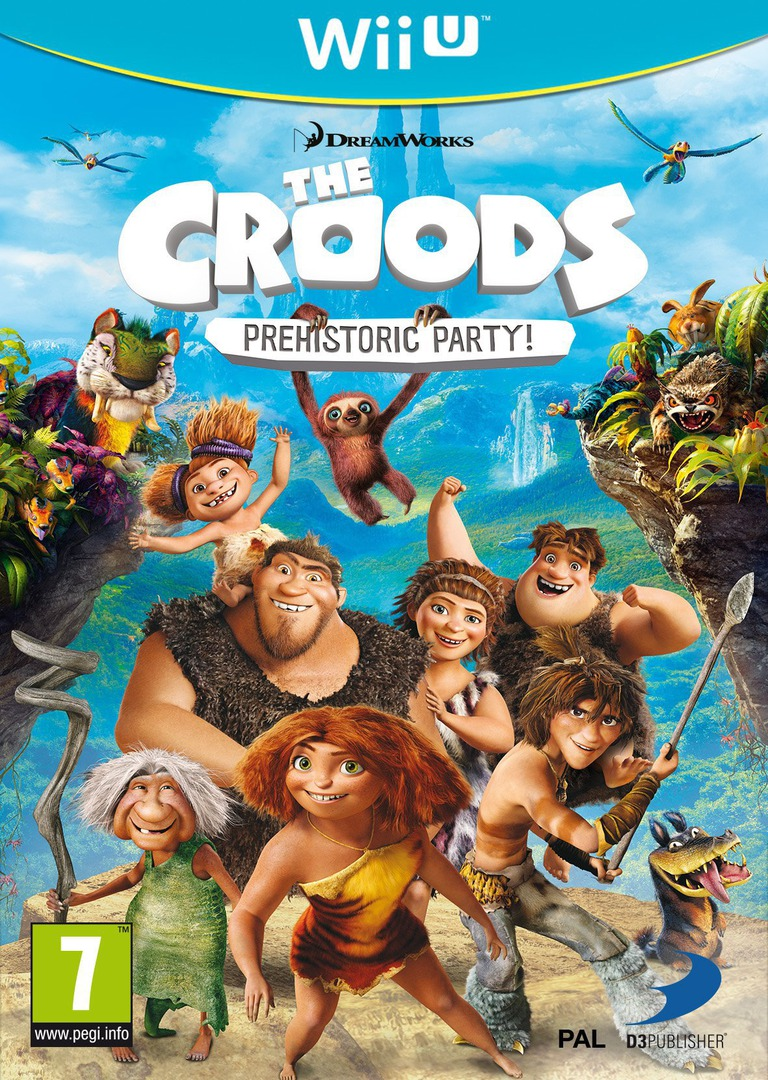 The Croods: Prehistoric Party! WiiU coverHQ (ACRPAF)