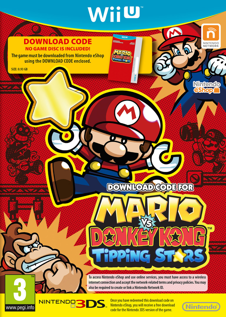 Mario vs. Donkey Kong: Tipping Stars (Download Code) WiiU coverHQ (WAFP01)