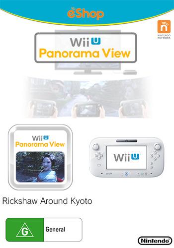 Wii U Panorama View: Rickshaw Around Kyoto WiiU coverM (WKYP)