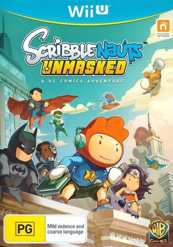 Scribblenauts Unmasked: a DC Comics Adventure WiiU coverM (ADCPWR)