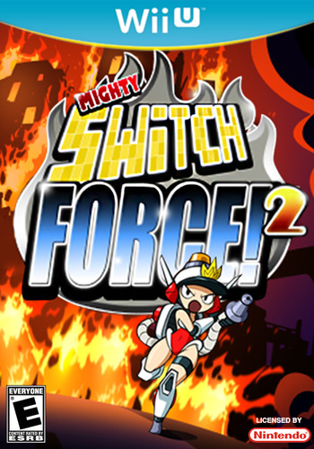 Mighty Switch Force! 2 WiiU coverM (WM2E)
