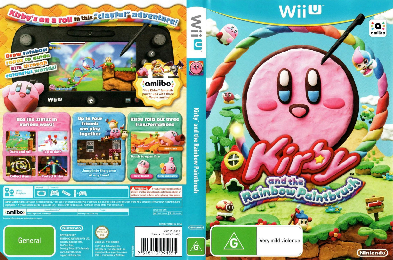 Kirby and the Rainbow Paintbrush WiiU coverfullHQ (AXYP01)