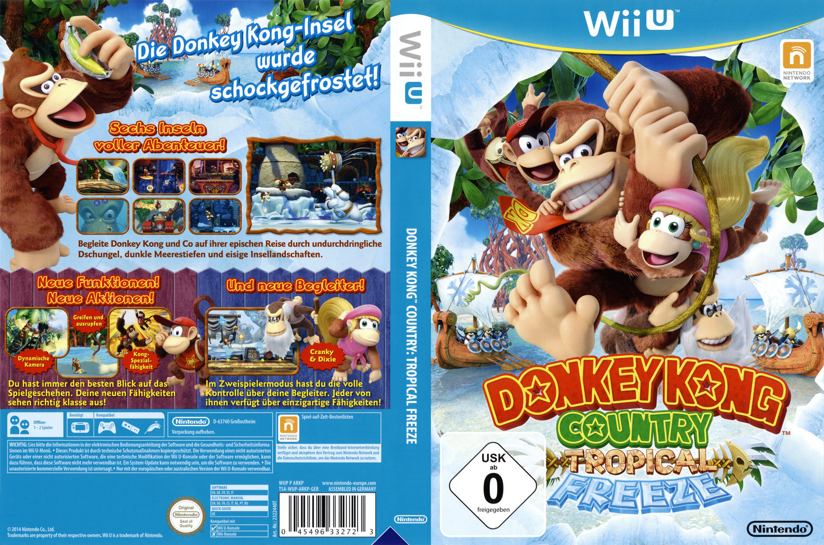 Donkey Kong Country: Tropical Freeze WiiU coverfullHQ (ARKP01)