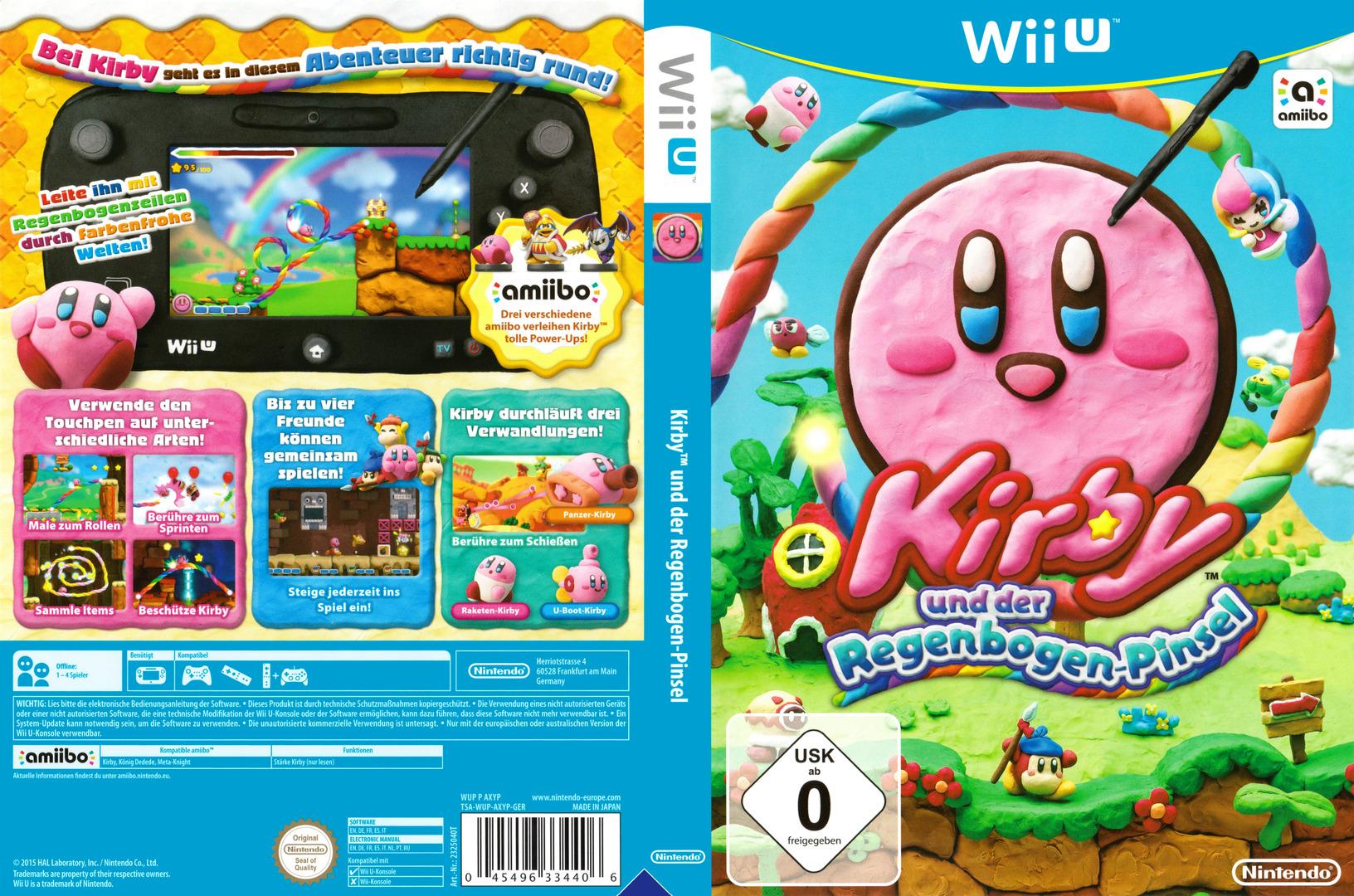 Kirby und der Regenbogen-Pinsel WiiU coverfullHQ (AXYP01)