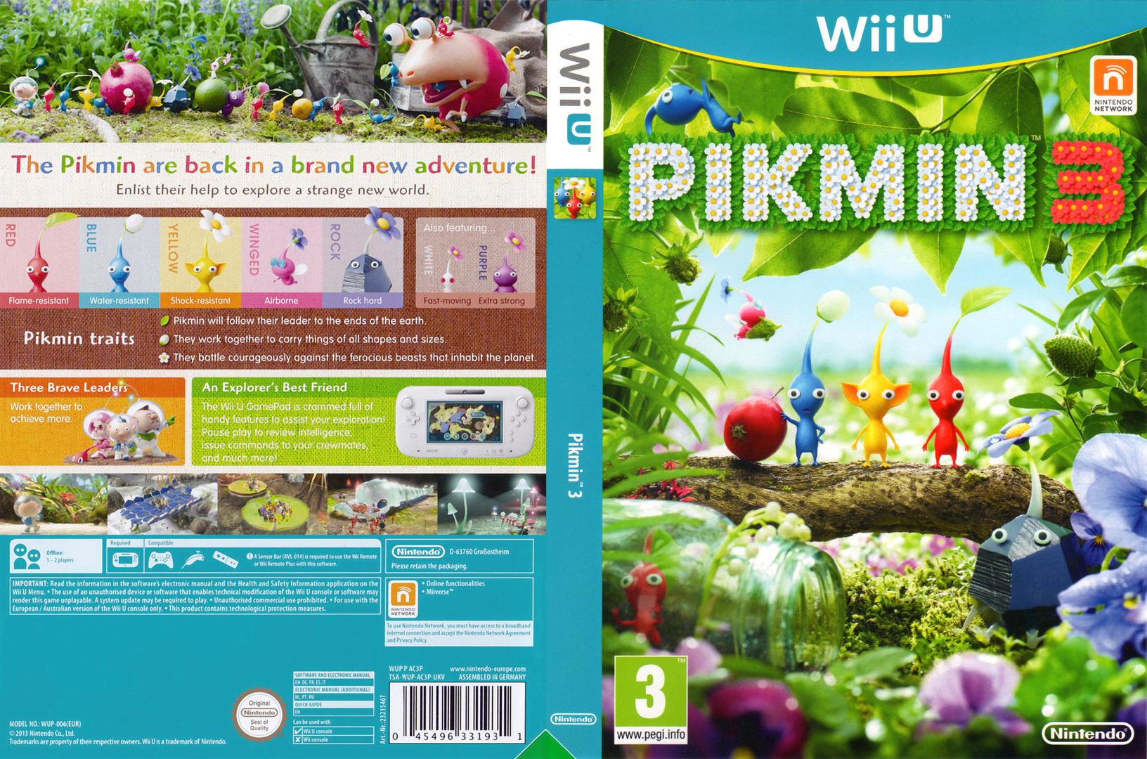 Pikmin 3 WiiU coverfullHQ (AC3P01)