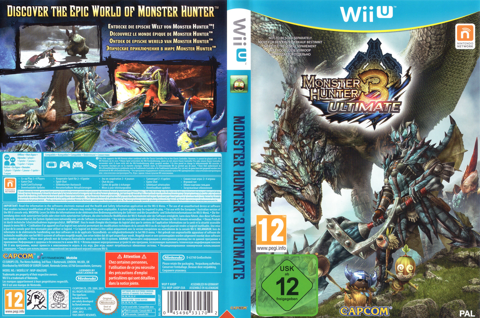Monster Hunter 3 Ultimate WiiU coverfullHQ (AHDP08)