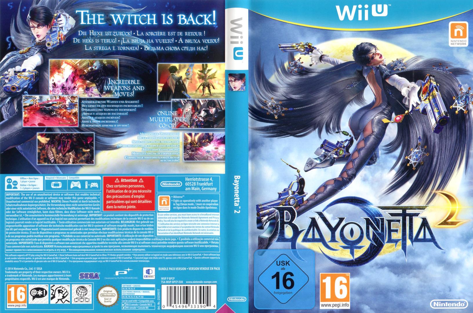 Bayonetta 2 WiiU coverfullHQ (AQUP01)