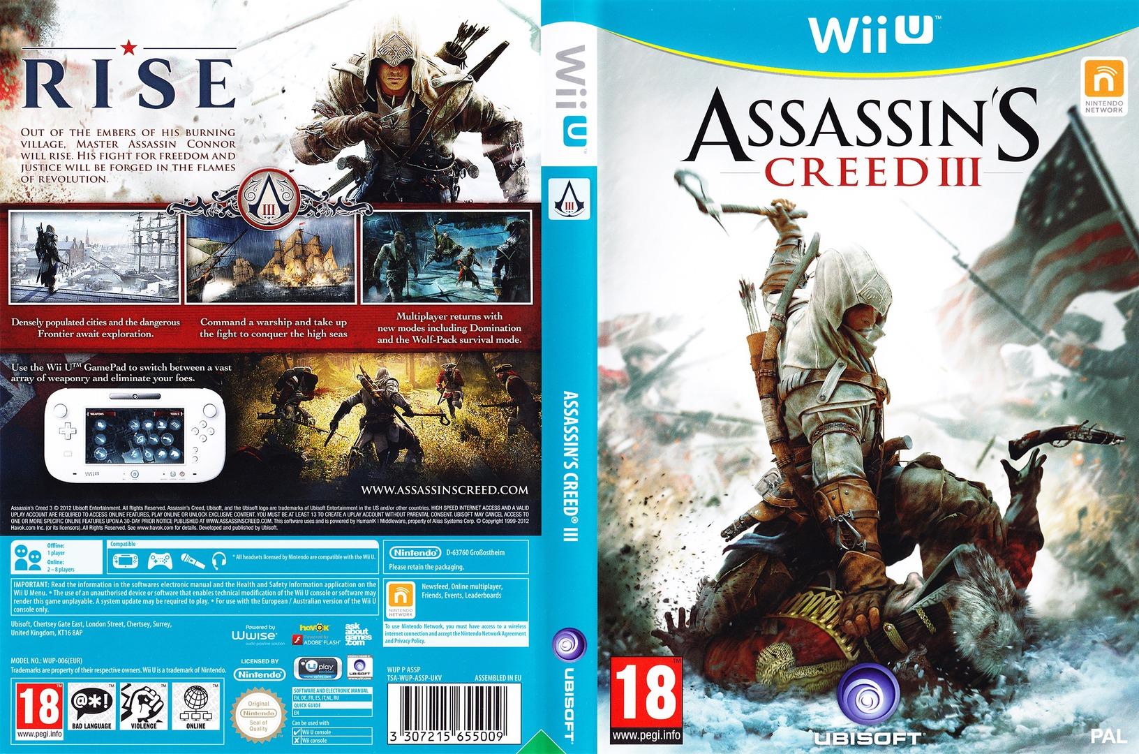 Assassin's Creed III WiiU coverfullHQ (ASSP41)