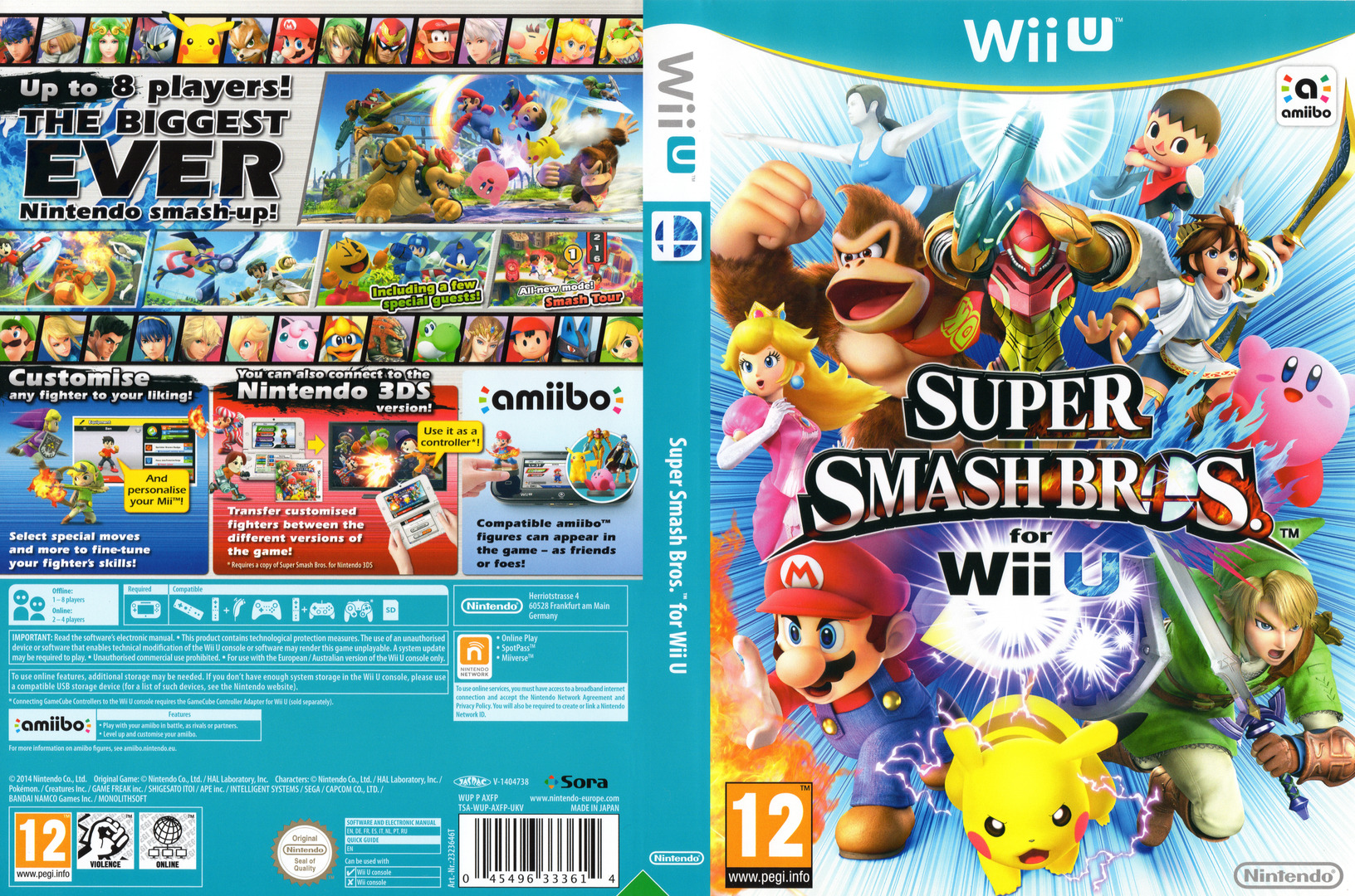 Super Smash Bros. for Wii U Array coverfullHQ (AXFP01)