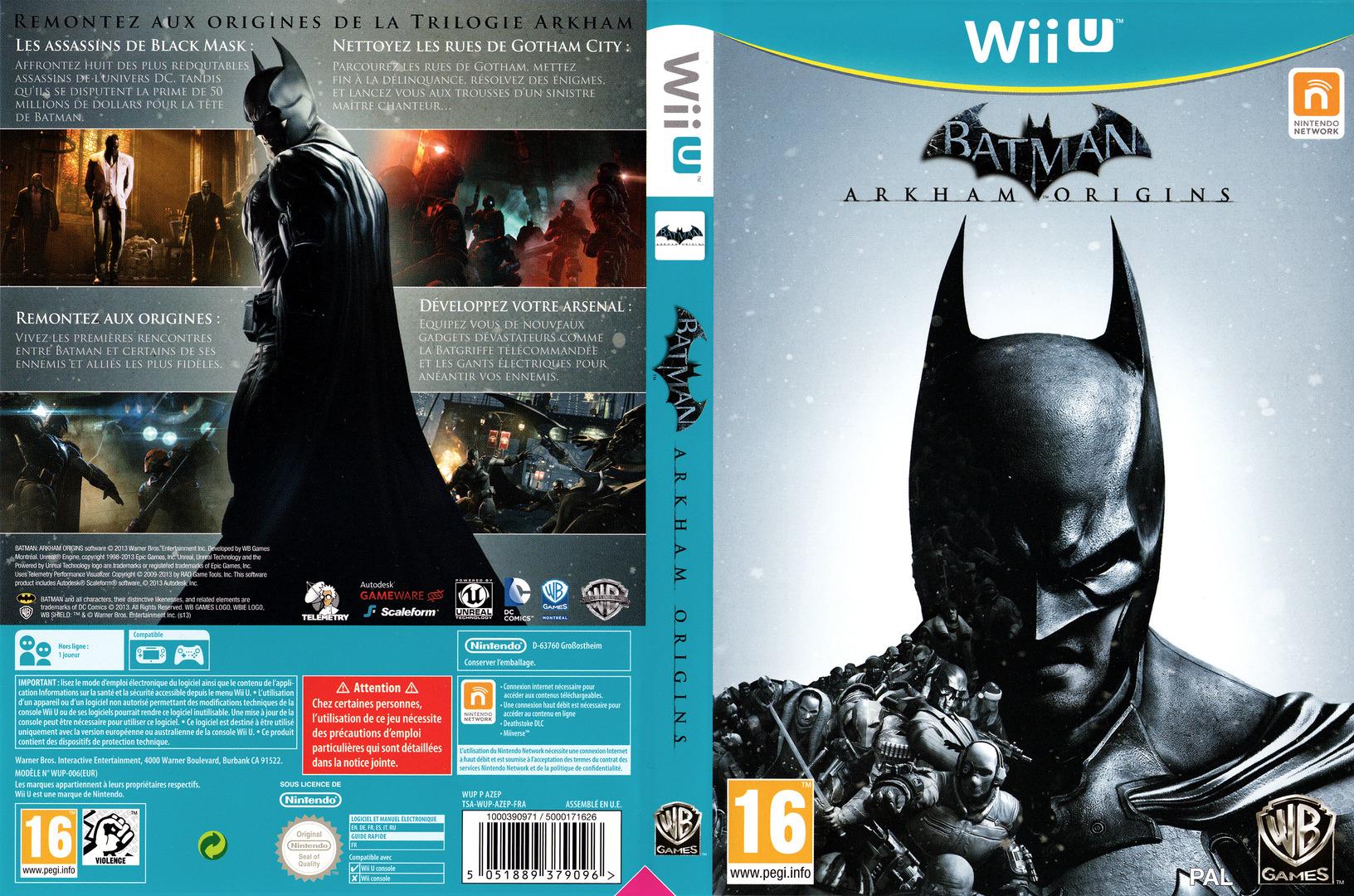 Batman:Arkham Origins WiiU coverfullHQ (AZEPWR)