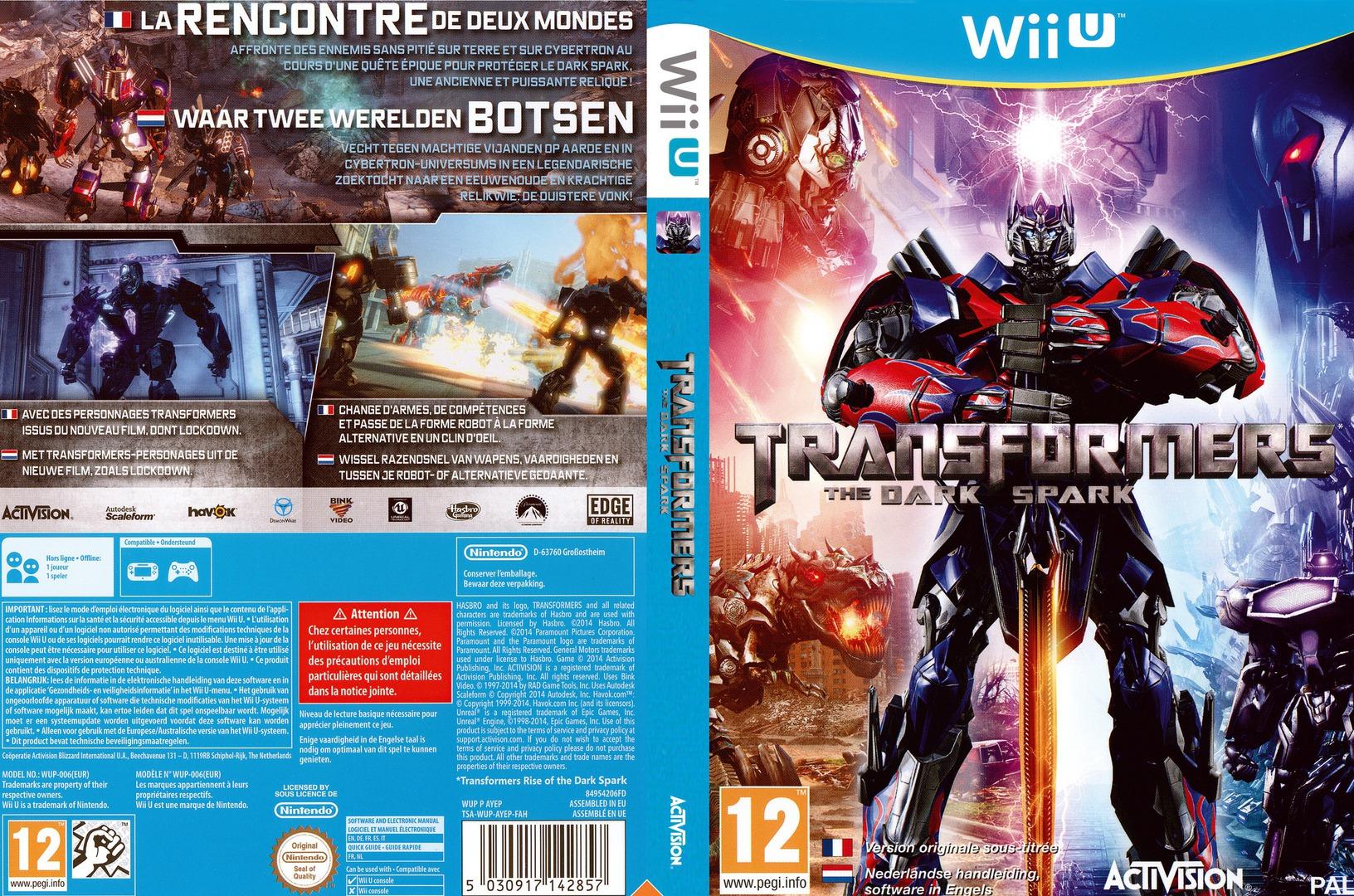 Transformers: The Dark Spark WiiU coverfullHQ (AYEP52)