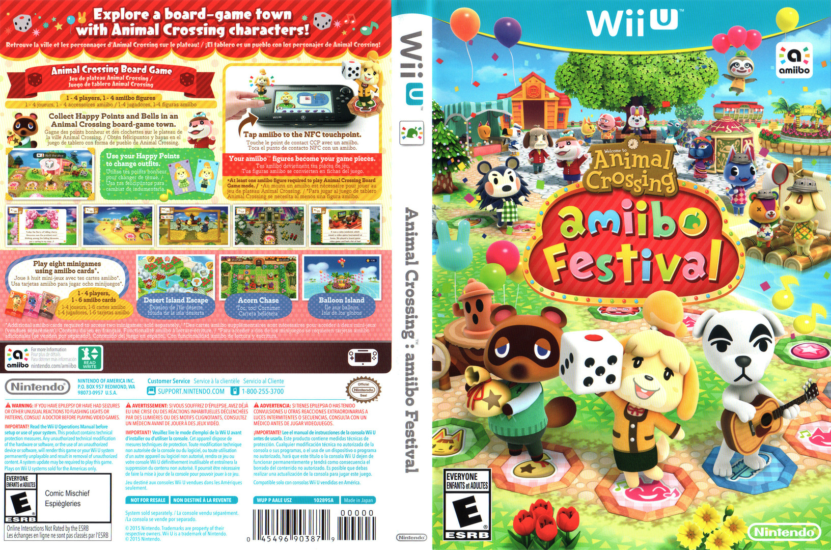Animal Crossing: amiibo Festival WiiU coverfullHQ (AALE01)