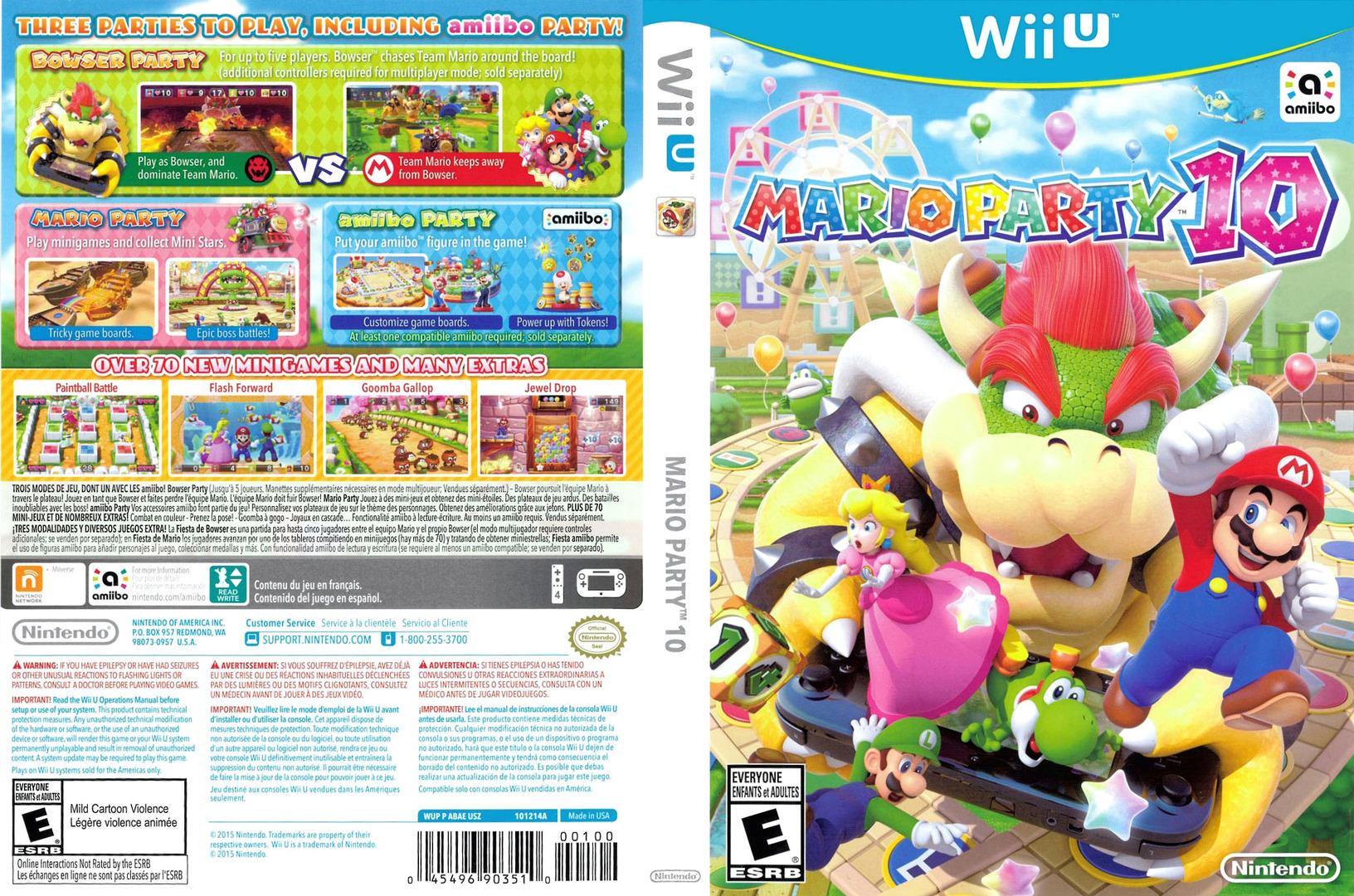 Mario Party 10 WiiU coverfullHQ (ABAE01)