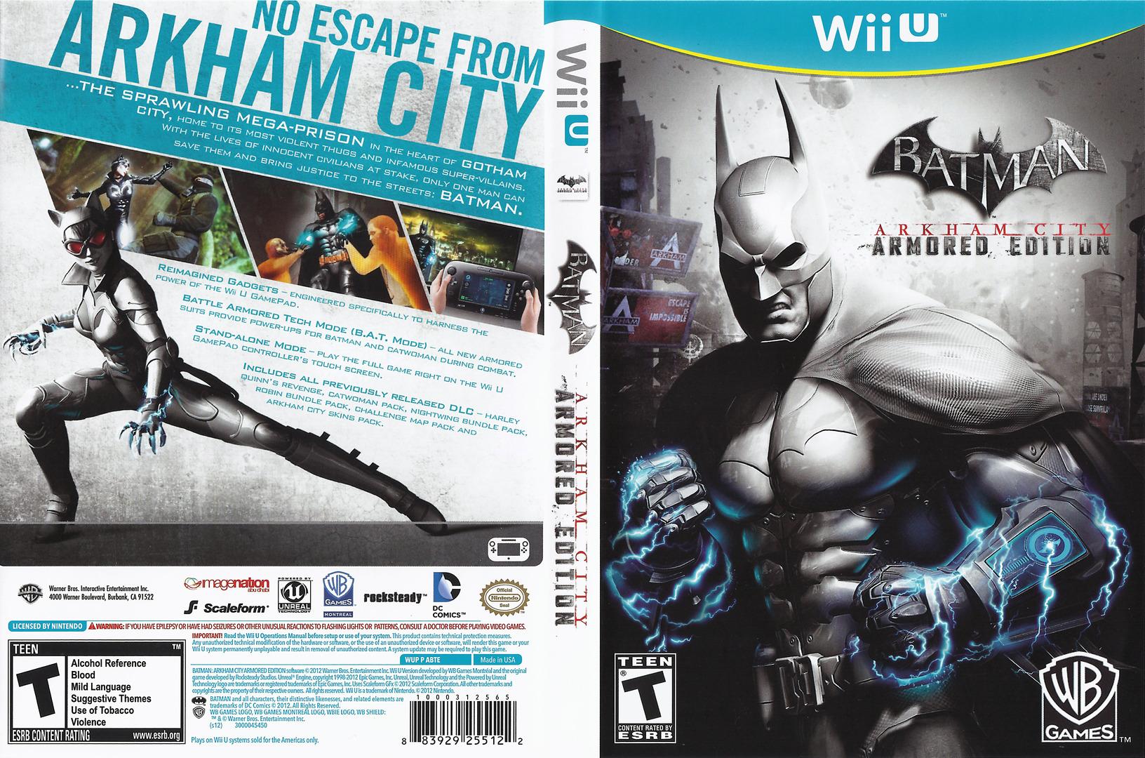 Batman Arkham City: Armored Edition WiiU coverfullHQ (ABTEWR)