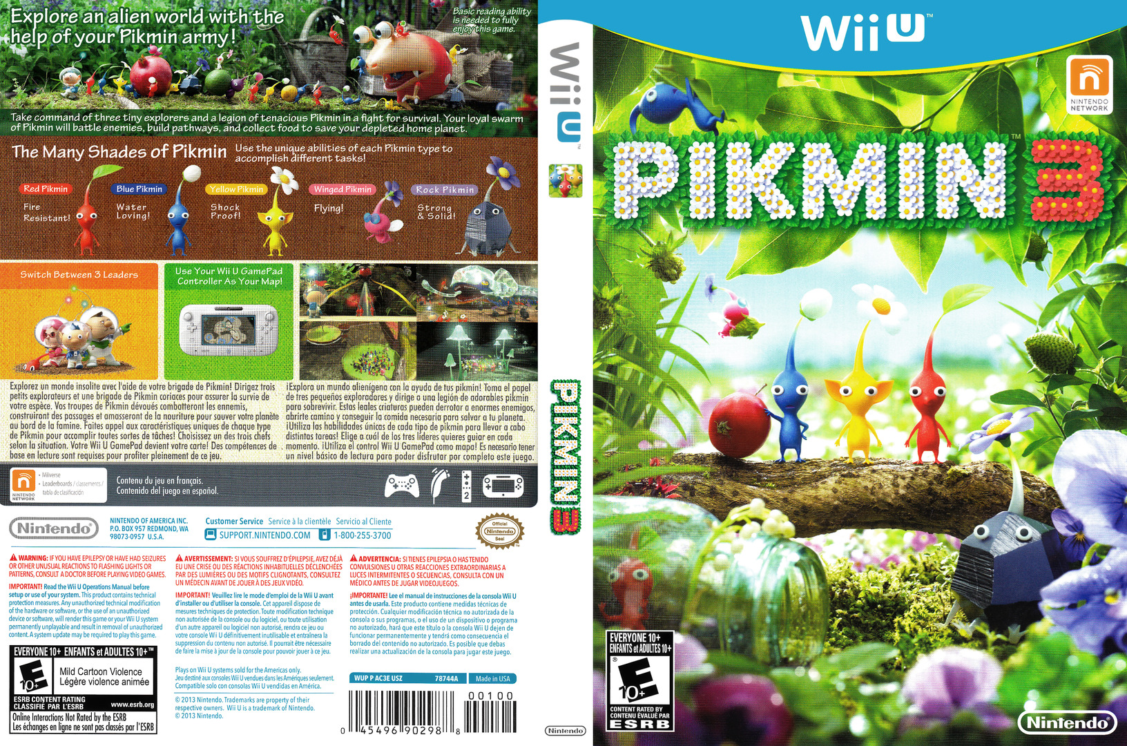 Pikmin 3 WiiU coverfullHQ (AC3E01)