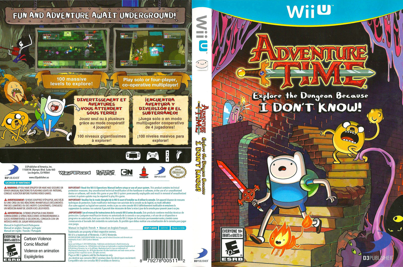 Adventure Time: Explore the Dungeon Because I DON'T KNOW! WiiU coverfullHQ (ADVEG9)