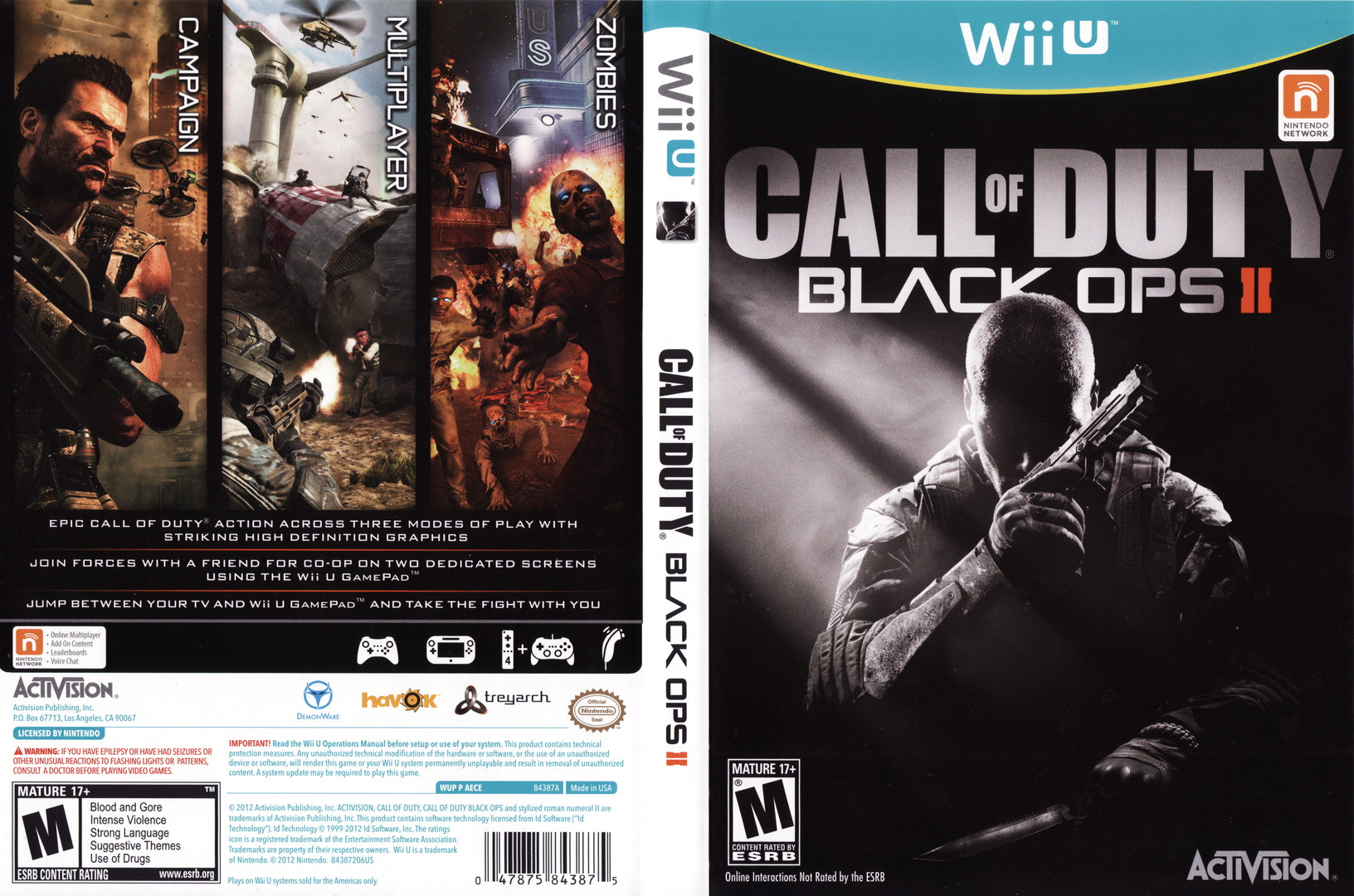Call of Duty: Black Ops II WiiU coverfullHQ (AECE52)