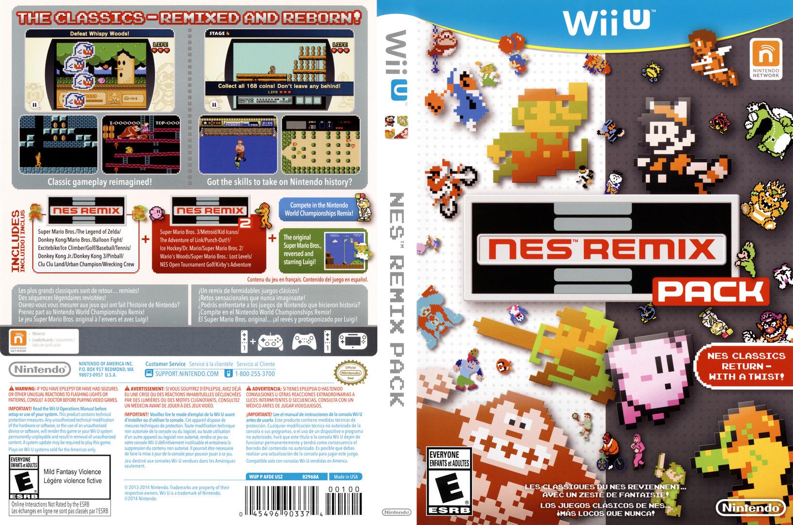 NES Remix Pack WiiU coverfullHQ (AFDE01)