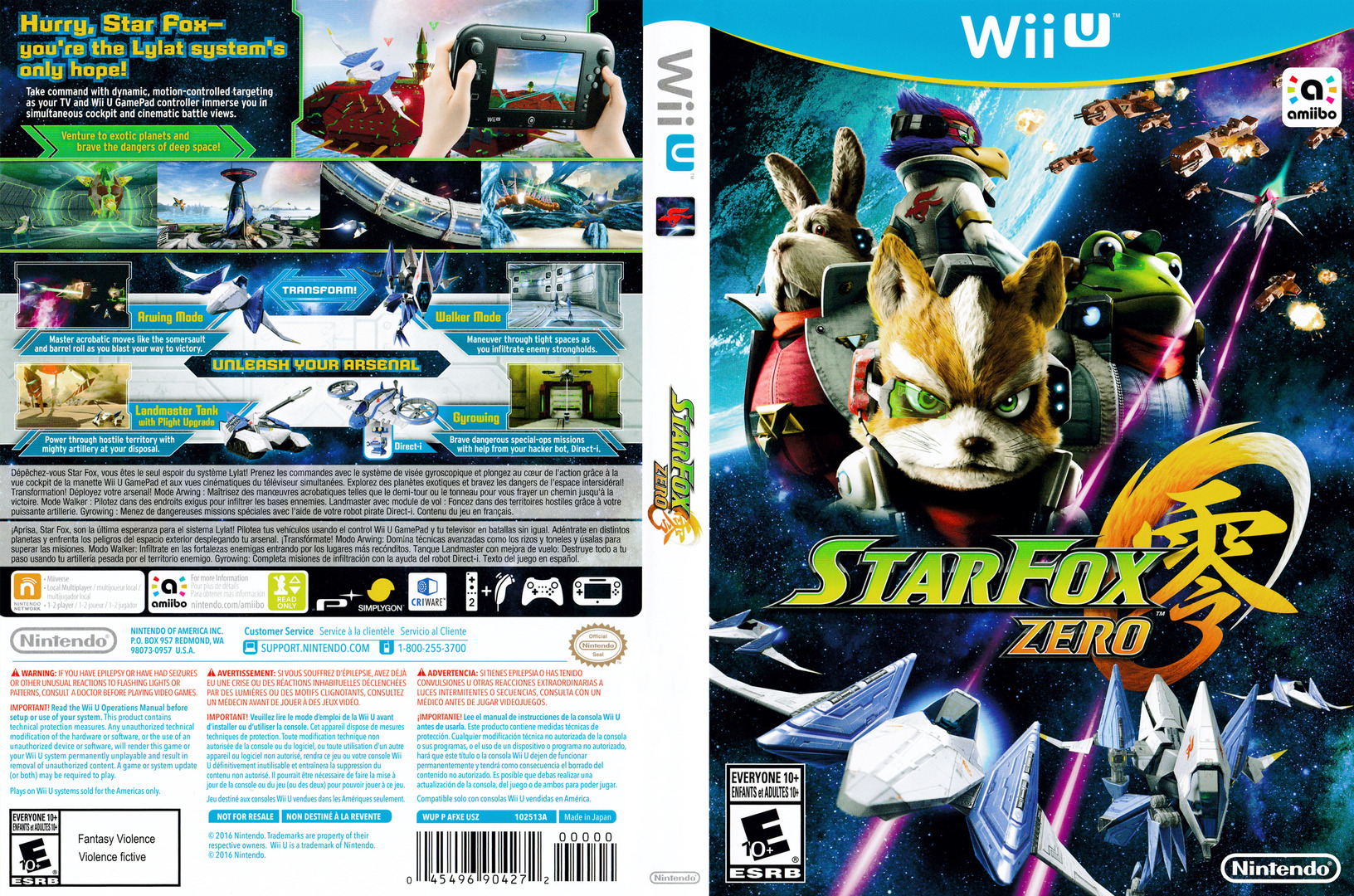 Star Fox Zero WiiU coverfullHQ (AFXE01)