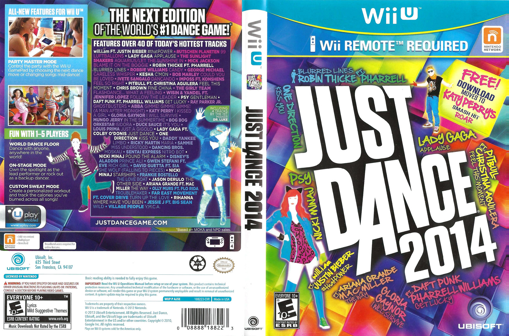 Just Dance 2014 WiiU coverfullHQ (AJ5E41)