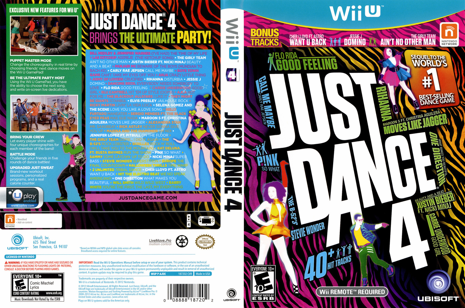 Just Dance 4 WiiU coverfullHQ (AJDE41)