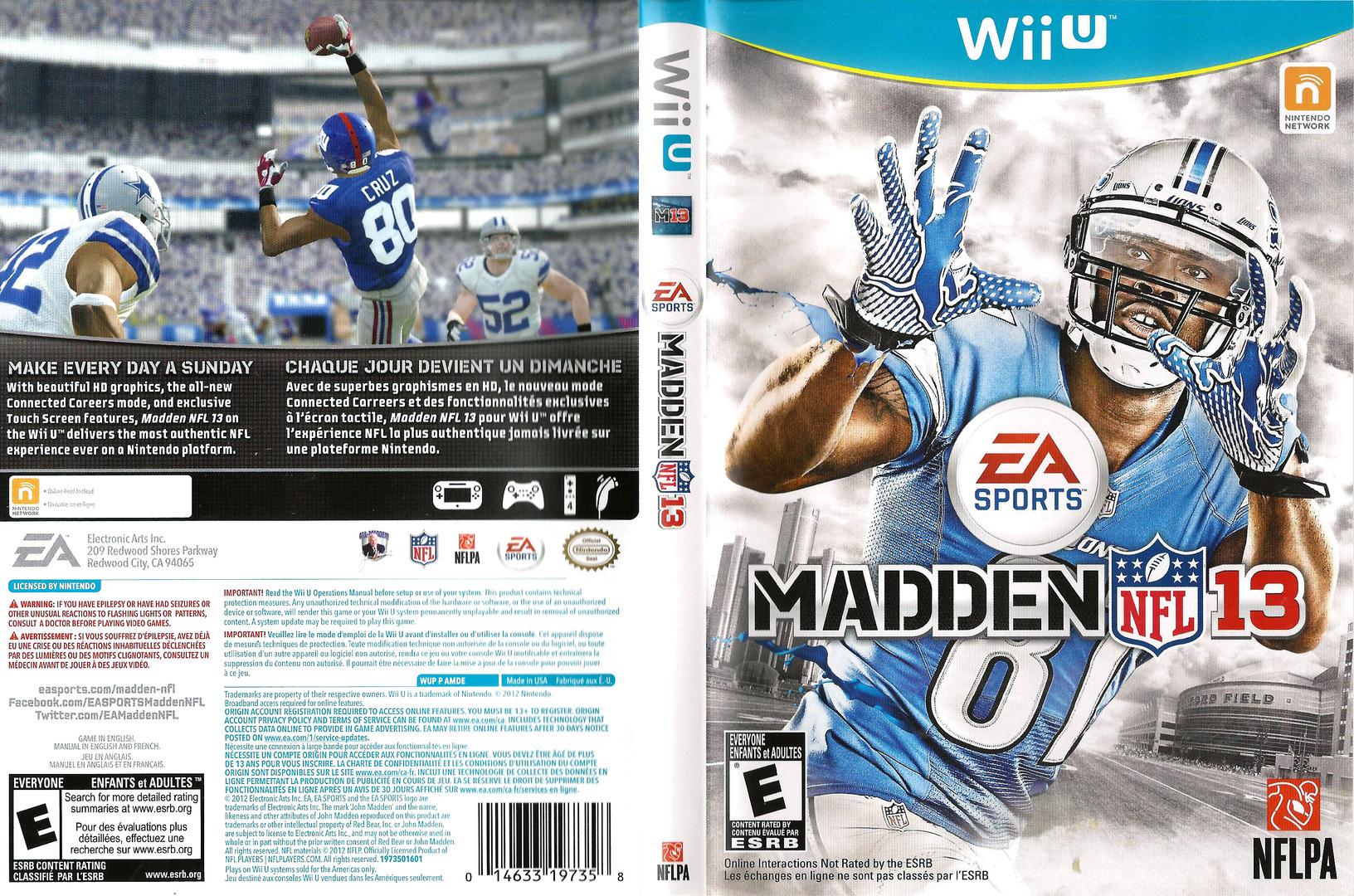 Madden NFL 13 WiiU coverfullHQ (AMDE69)