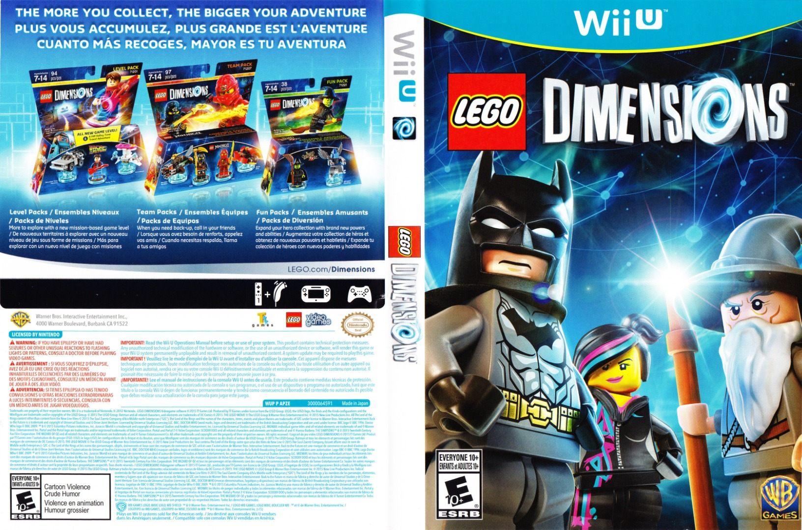 LEGO Dimensions WiiU coverfullHQ (APZEWR)