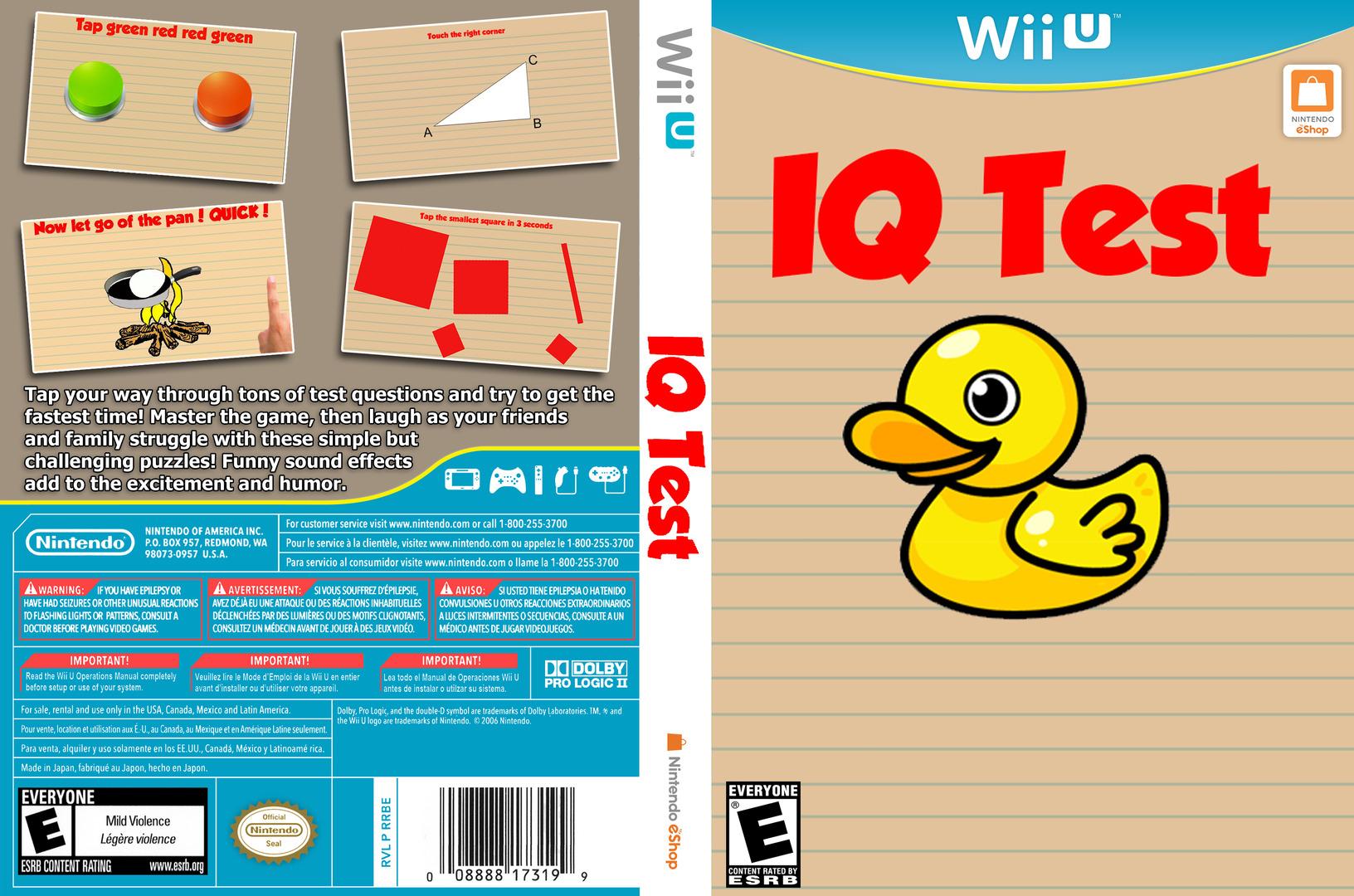 IQ Test WiiU coverfullHQ (AQTE)