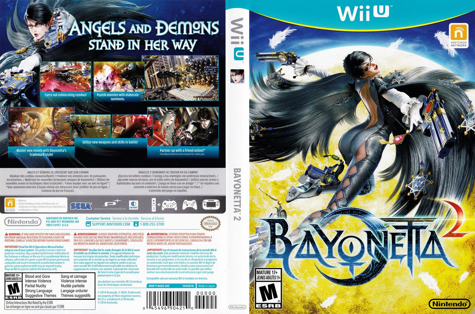 Bayonetta 2 WiiU coverfullHQ (AQUE01)
