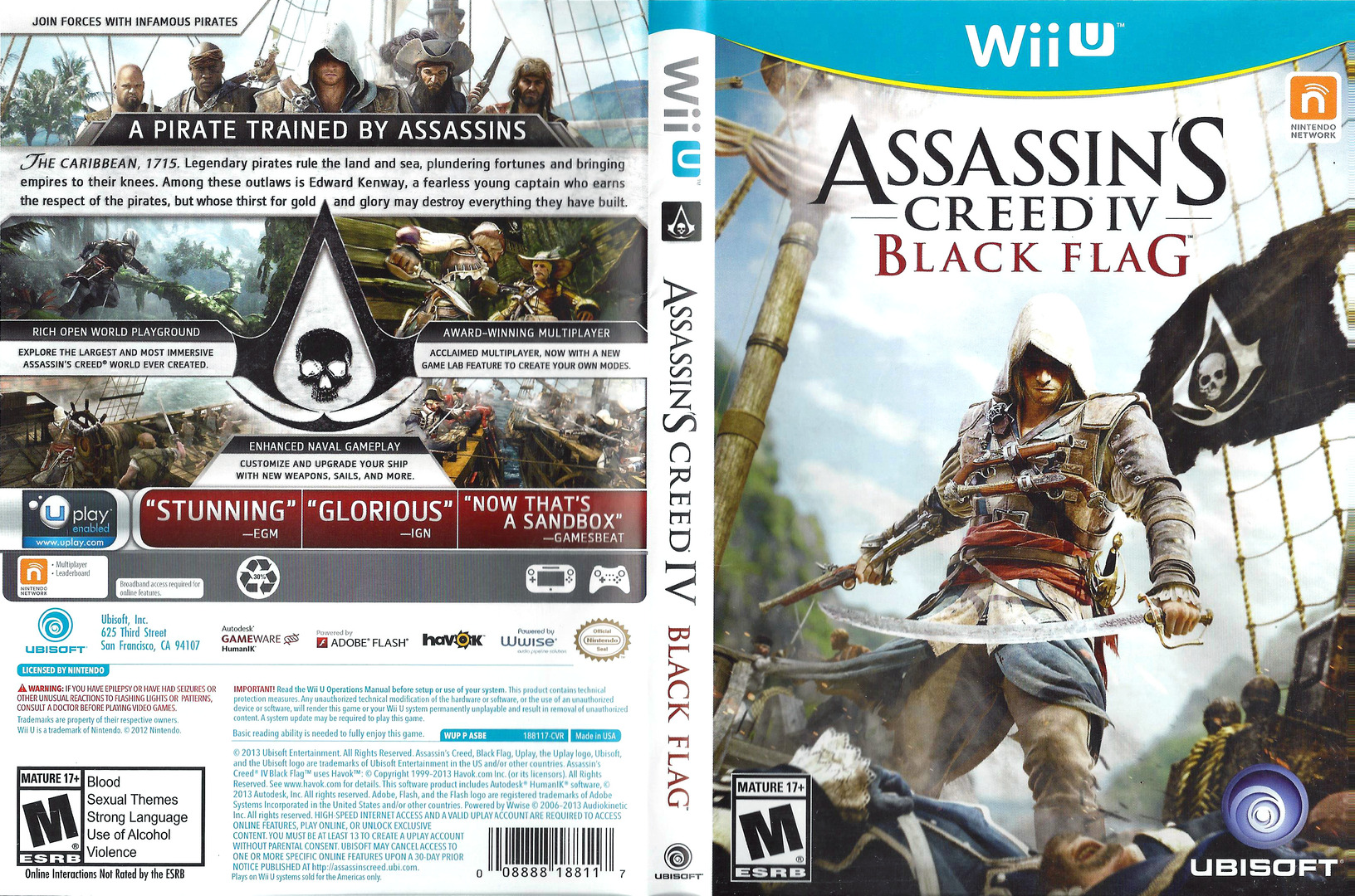 Assassin's Creed IV: Black Flag WiiU coverfullHQ (ASBE41)