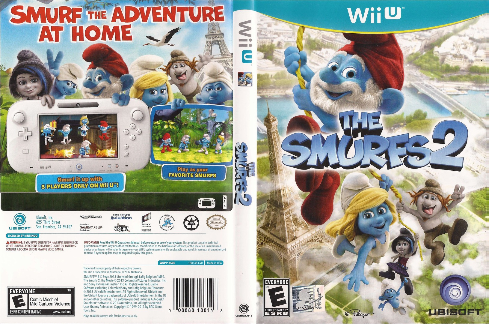 The Smurfs 2 WiiU coverfullHQ (ASUE41)