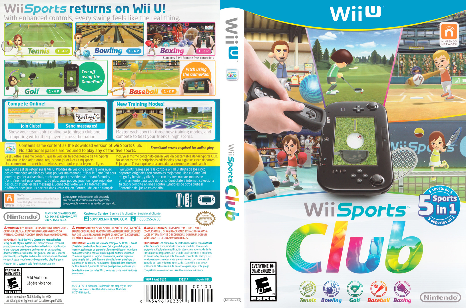 Wii Sports Club WiiU coverfullHQ (AWSE01)