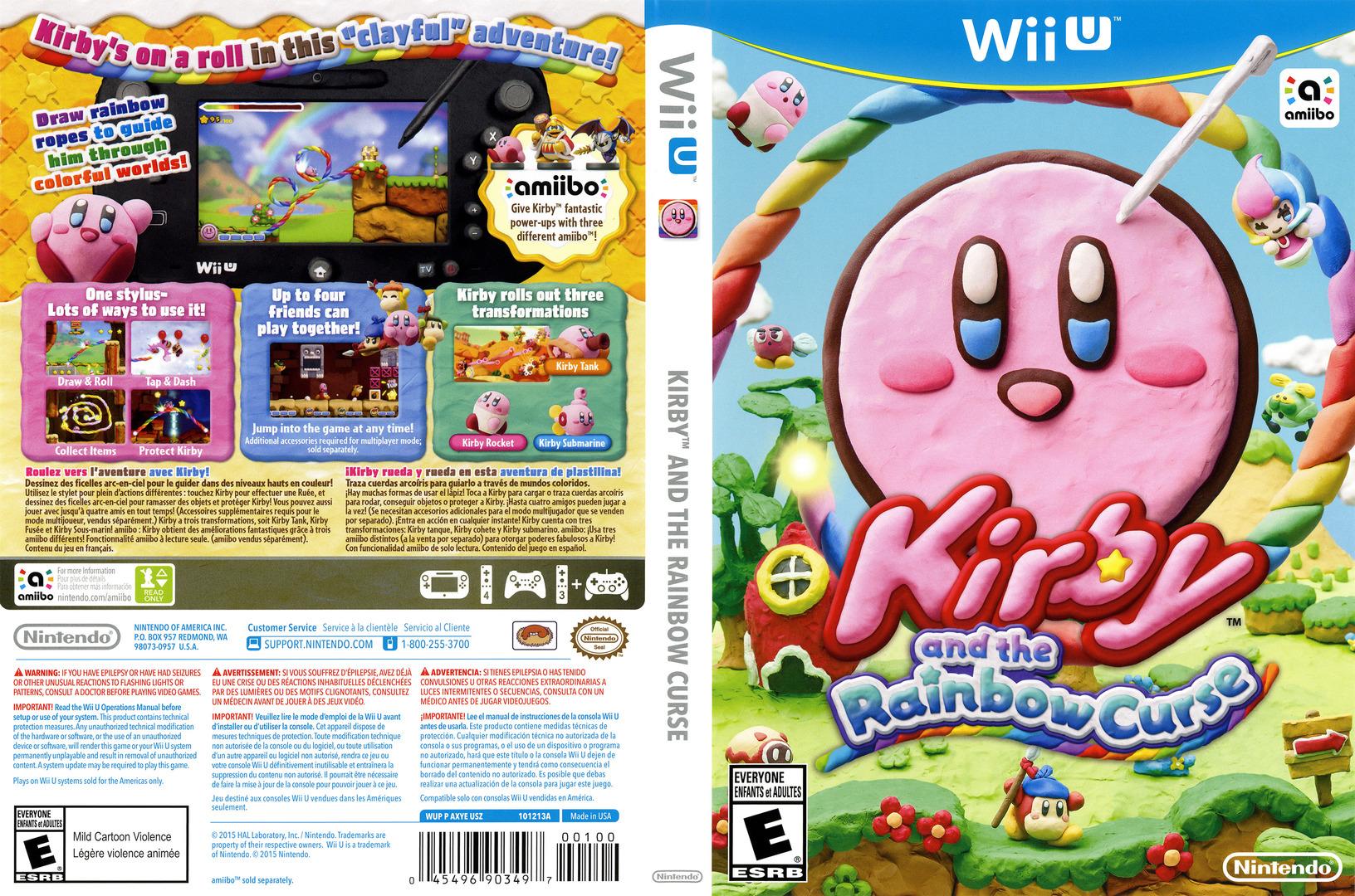 Kirby and the Rainbow Curse WiiU coverfullHQ (AXYE01)