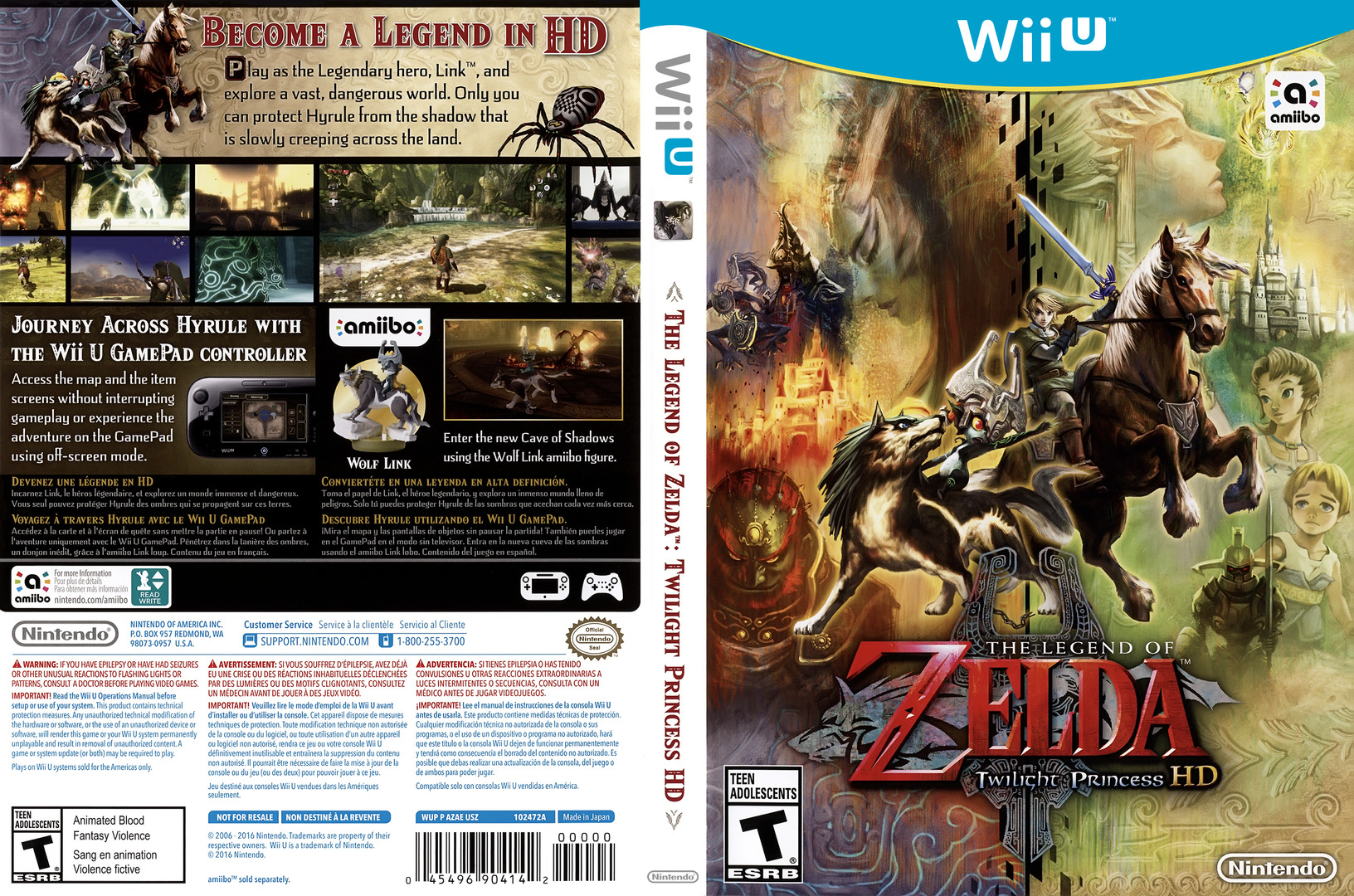 The Legend of Zelda: Twilight Princess HD WiiU coverfullHQ (AZAE01)