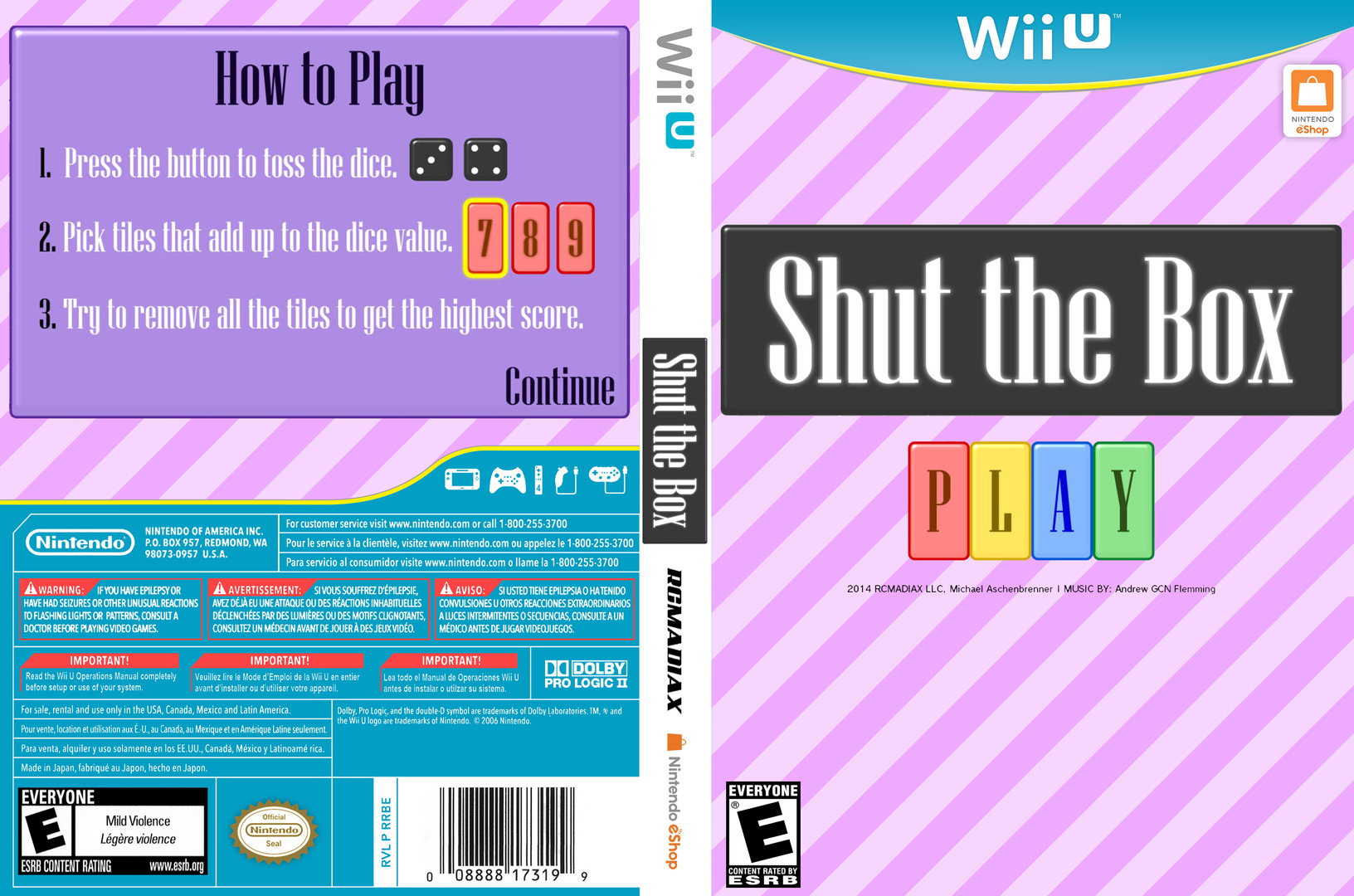 Shut the Box WiiU coverfullHQ (BSHE)