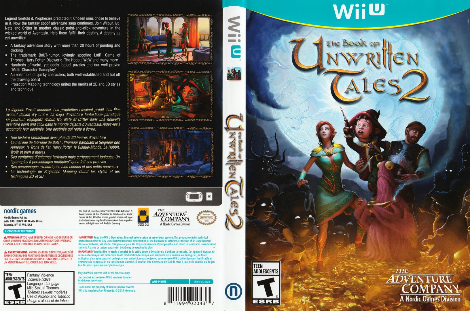 The Book of Unwritten Tales 2 WiiU coverfullHQ (BUTE6V)