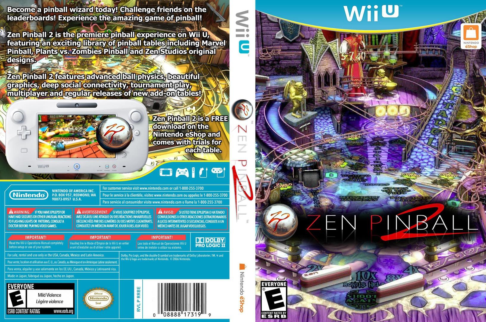 Zen Pinball 2 WiiU coverfullHQ (WBAE)