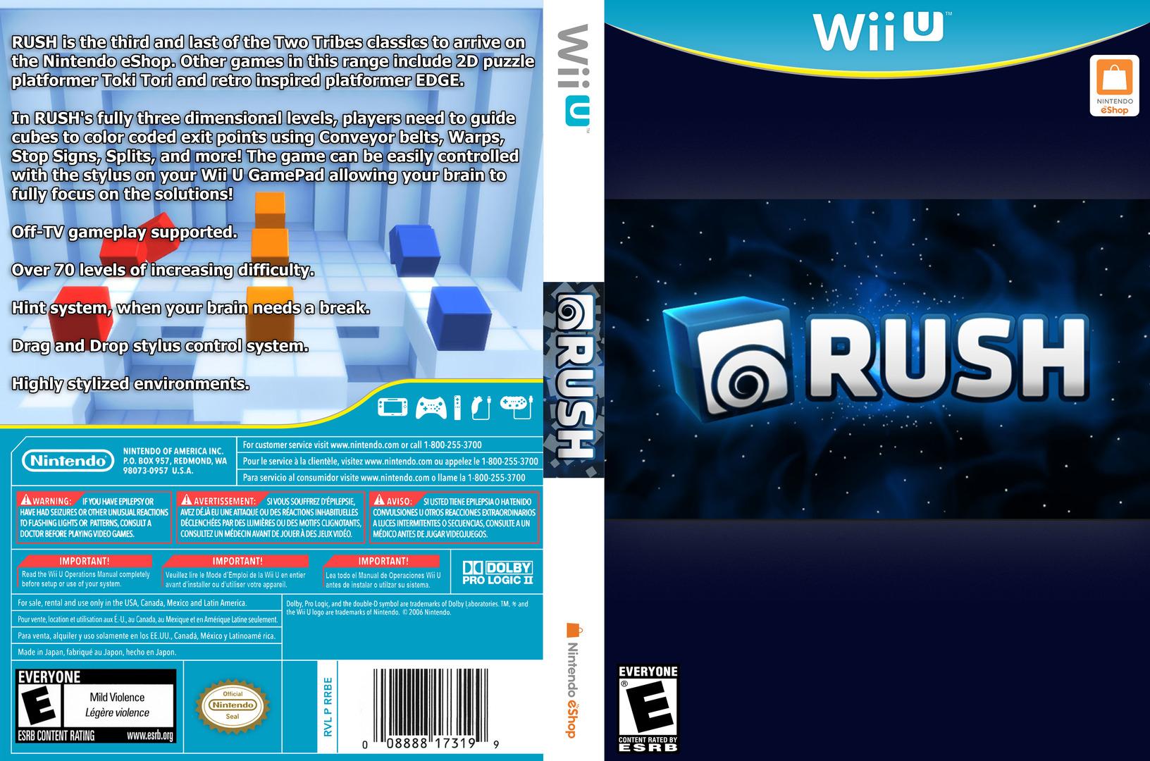 RUSH WiiU coverfullHQ (WCFE)