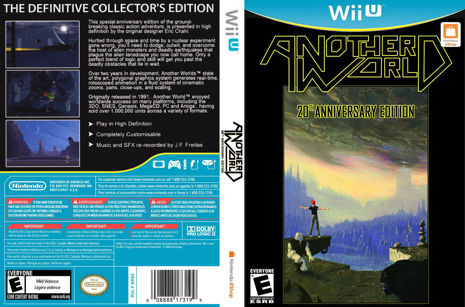 Another World: 20th Anniversary Edition WiiU coverfullHQ (WEUE)