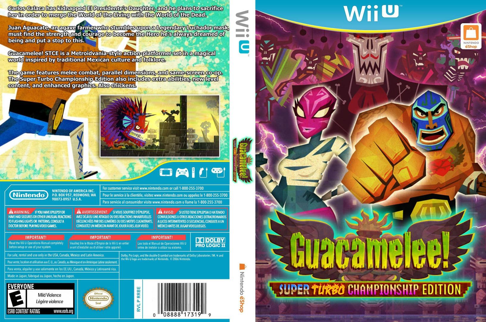 Guacamelee! Super Turbo Championship Edition WiiU coverfullHQ (WGCE)