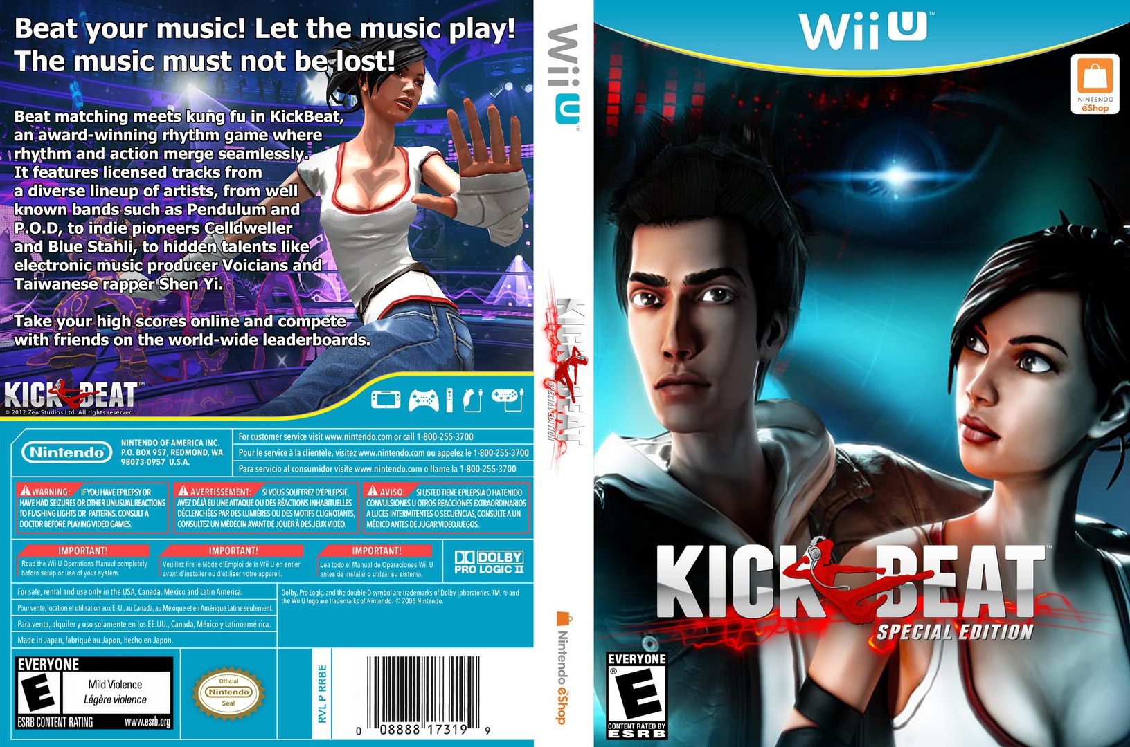 KickBeat Special Edition WiiU coverfullHQ (WKBE)