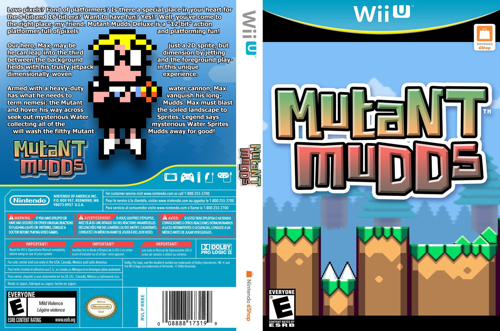 Mutant Mudds Deluxe WiiU coverfullHQ (WMME)