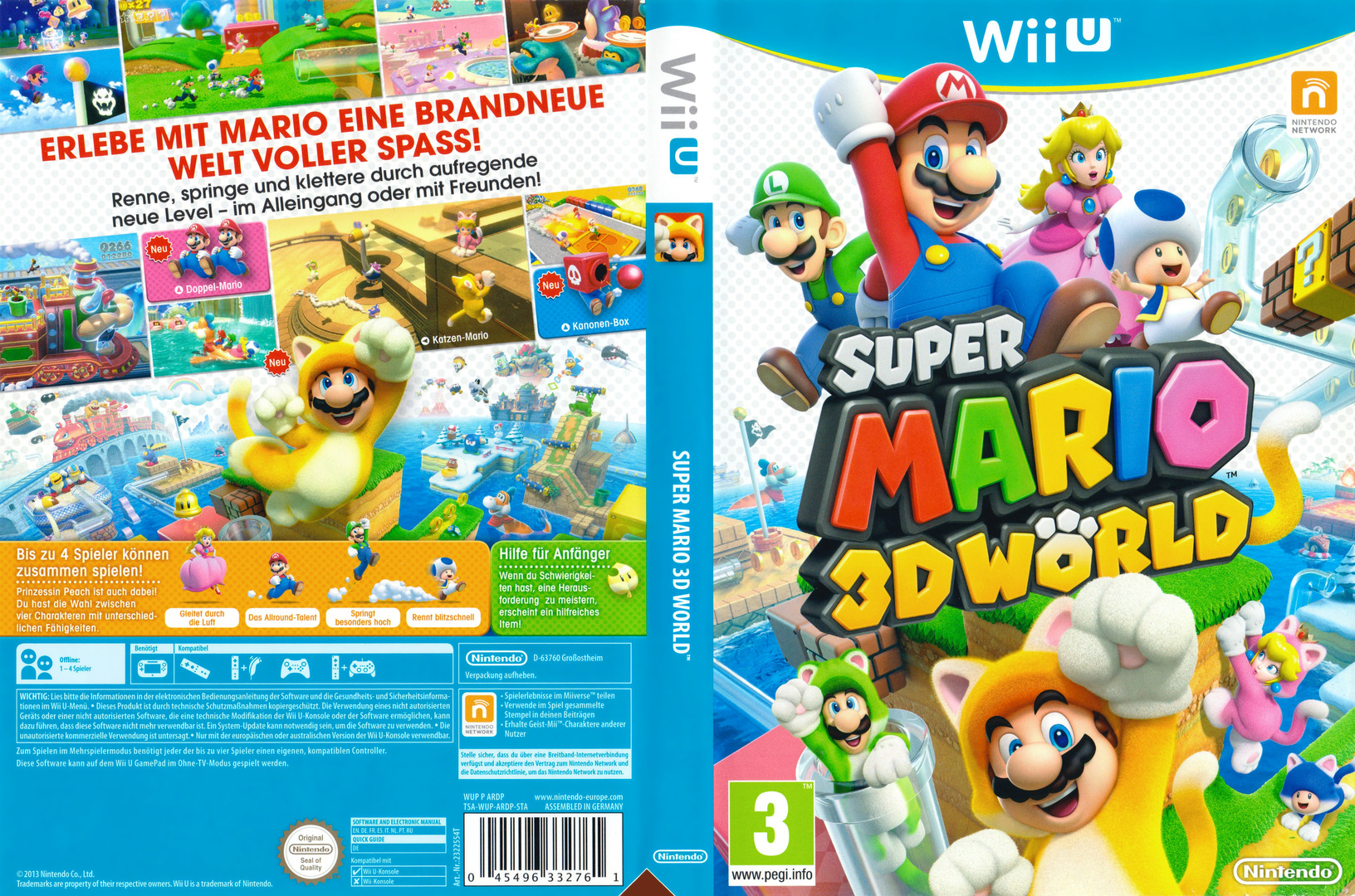 Super Mario 3D World WiiU coverfullHQB (ARDP01)