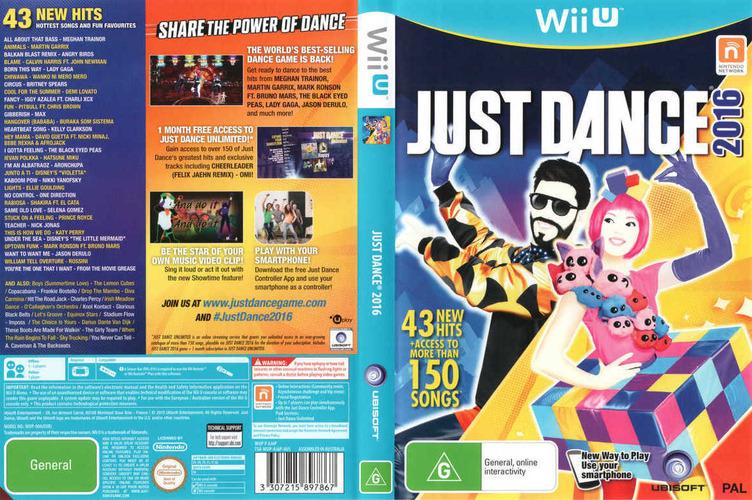 Just Dance 2016 WiiU coverfullM (AJ6P41)