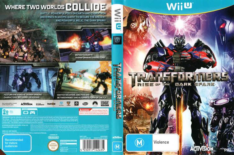 Transformers: The Dark Spark WiiU coverfullM (AYEP52)
