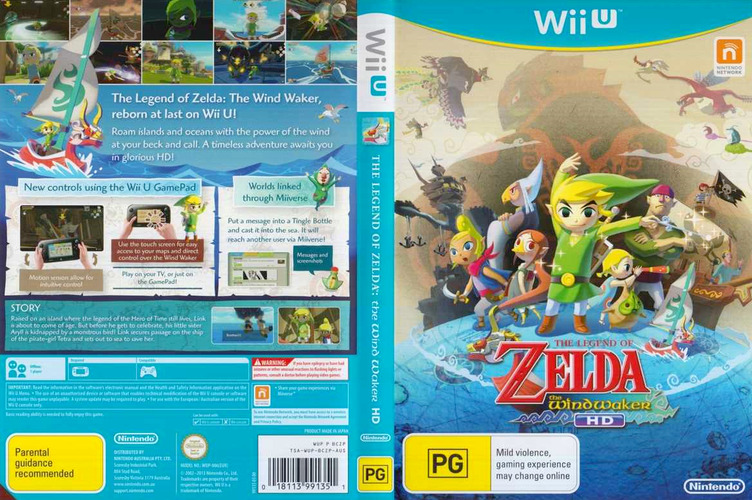 The Legend of Zelda: The Wind Waker HD WiiU coverfullM (BCZP01)