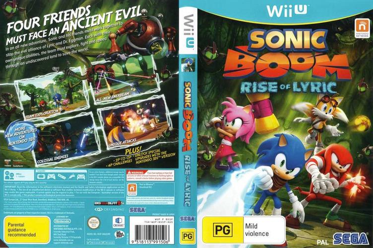 Sonic Boom: Rise of Lyric WiiU coverfullM (BSSP8P)