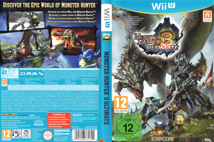 Monster Hunter 3 Ultimate WiiU coverfullM (AHDP08)