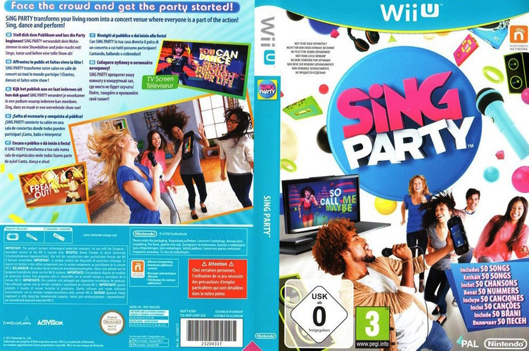 SiNG Party WiiU coverfullM (ASWP01)