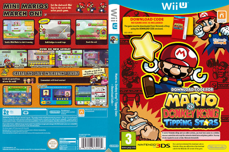 Mario vs. Donkey Kong: Tipping Stars (Download Code) WiiU coverfullM (WAFP01)